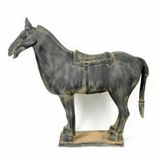 chinese terra cotta warrior horse statue 10 inches high