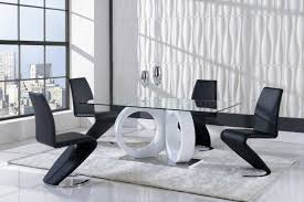 d9002dt dining table by global w optional black side chairs
