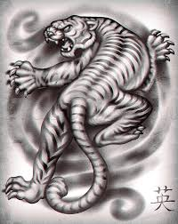 how to draw a japanese tiger by tattoos pop