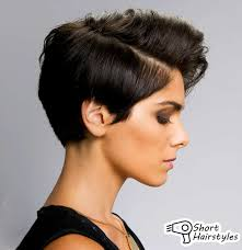 short hairstyles short bangs chic angled hair with side swept