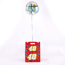 40th birthday balloons delivery 40th birthday balloon in a box inflated and free delivery card