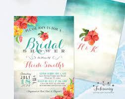 wedding invitations hawaii hawaiian invitation etsy