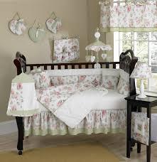 Pink And Green Crib Bedding Pink Green Floral Print Crib Bedding 9pc Baby Nursery