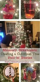 memory ornaments creating a tree of stories