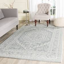 8 X 6 Area Rug Safavieh Adirondack Collection Adr108t Slate And Ivory
