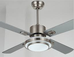 42 Inch Ceiling Fan With Light Stainless Steel Ceiling Fan Light With Wood Blade 42 52 Inches
