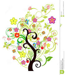 floral tree stock vector image of bush bloom painting 35743277