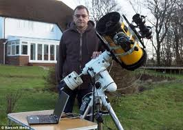 Backyard Astronomer Back Garden Astronomer Uses Second Hand Telescope And A Lot Of