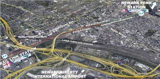 Nj Train Map Path Expansion Would Provide Direct Access Between Newark Airport