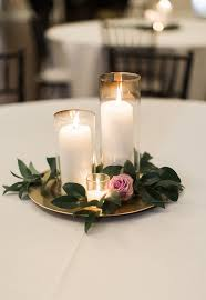 Lanterns For Wedding Centerpieces by Candle Wedding Centerpiece Purple And Greenery Centerpiece Simple