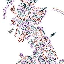 Map Of Britian Literary Britain Map Print By The Literary Gift Company