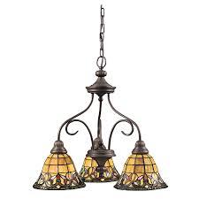 Art Nouveau Chandelier Shop Portfolio 3 Light Flora Art Nouveau Bronze Chandelier At