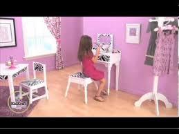 coiffeuse chambre fille coiffeuse et tabouret funky mobilier kidkraft pour chambres