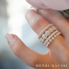Pink Wedding Rings by Add A Touch Of Sparkle To Your Henridaussi Stack With Pink