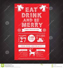 christmas restaurant and party menu invitation stock vector