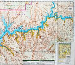 National Geographic Map Trail Map Of Glen Canyon National Recreation Area Utah Arizona