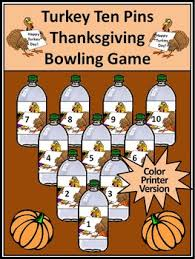 thanksgiving activities turkey ten pins thanksgiving by