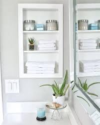 Recessed Shelves In Bathroom Bathroom Built In Storage Ideas 7 Recessed Shelves With A Frame