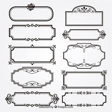 ornamental frames vector free