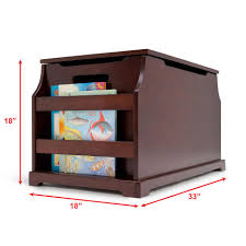 Toy Box With Bookshelves by Babies R Us Next Steps Toy Box With Book Rack Espresso Toys