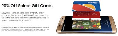 gift cards app 20 select gift cards with samsung pay in app frequent miler