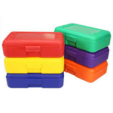pencil boxes plastic pencil box multicolor set of 6 baylor s 7th birthday