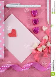 heart shaped writing paper writing love letters and cards for happy valentines day stock royalty free stock photo