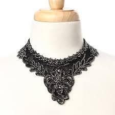 lace necklace images Athena lace bib necklace shop amrita singh jewelry