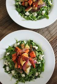 Fall Root Vegetables - roasted root vegetable salad with herbed goat cheese domesticate me