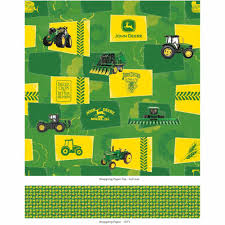 deere wrapping paper deere yellow and green heritage wrapping paper