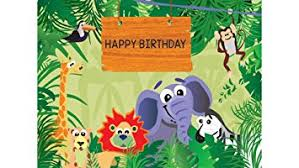 Jungle Backdrop Party Propz Jungle Theme Backdrop Wallpaper 5ft 7ft Amazon In