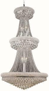 Elegant Lighting Chandelier Lighting V1800g36 Primo 32 Light Crystal Chandelier