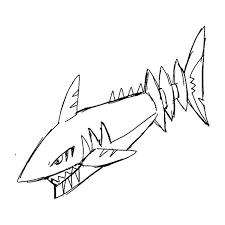shark sketch art shark