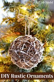 rustic ornaments diy glittery grapevine balls rustic