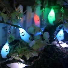 halloween ghost string lights halloween 20 led ghost colorful string lights garden courtyard