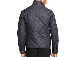 lightweight bike jacket ralph lauren polo quilted bike jacket in black for men lyst