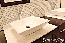 The Ruffle Shower Curtain That Stole My Heart - Bathroom sink backsplash