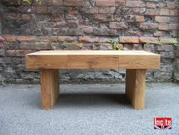 british handmade chunky oak block coffee table by incite