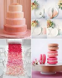 peach ombre wedding cake ombre wedding inspiration junebug weddings