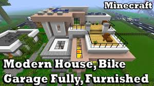 houses with big garages minecraft modern house u0026 garage fully furnished youtube