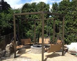 Swing Fire Pit by Porch Swing Around Fire Pit Techethe Com