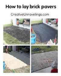 Backyard Pavers Diy Almost Done Paver Patio Diy 12x12 Pavers With Gravel Between