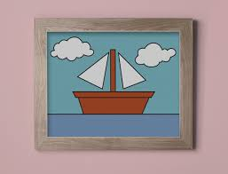 Hanging Pictures On Wall by The Simpsons Boat Picture Wall Art Print Wall Hanging Poster