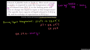 How To Find Negative Energy At Home Specific Heat Heat Of Fusion And Vaporization Example Video