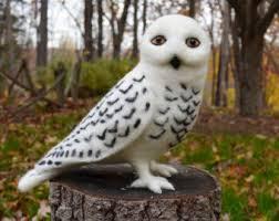 Mr Barn Mr Barn Owl Lifesize Needle Felted Art Wool Sculpture