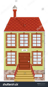 vector illustration single two story house stock vector 102510770