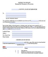 free notice forms notice to vacate form notice to vacate sample