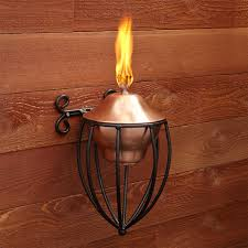 Patio Torch Lights by Copper Patio Torch Signature Hardware