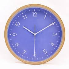 brand hippih new silent non ticking wall clock wood 8 inches brief
