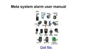meta system alarm user manual google docs